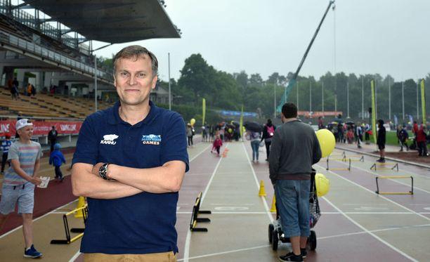 Jari Salonen isännöi keskiviikkona Paavo Nurmi Gamesia Turussa.