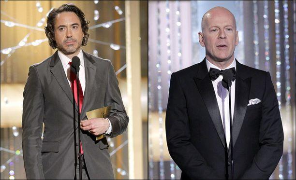 Robert Downey Jr ja Bruce Willis olivat vain kaksi siitä lukuisasta joukosta julkkiksia, jotka saivat kyseenalaisen kunnian esiintyä Gervaisin vitseissä.