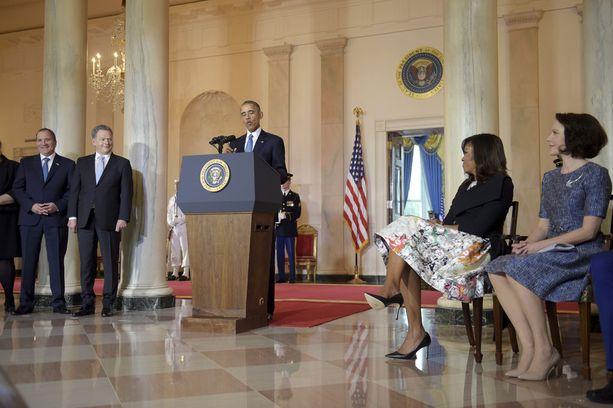 Barack Obama tapasi Pohjoismaiden johtajia Valkoisessa talossa toukokuussa 2016. Obama sanoi arvostavansa suuresti pohjoismaista yhteiskuntamallia, vastuunkantoa ja asioiden mutkatonta hoitoa.