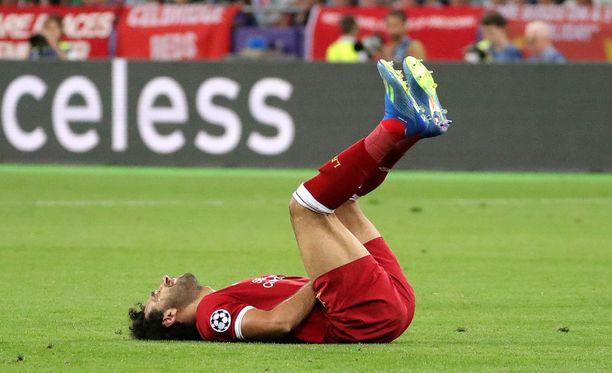 Mo Salah joutui jättämään Mestarien liigan finaalin kesken.