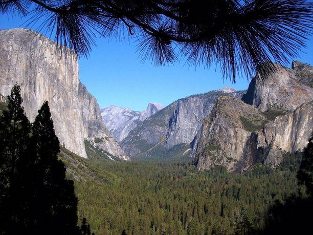 Yosemiten kansallispuisto on yli 3000 neliökilometrin suuruinen alue.