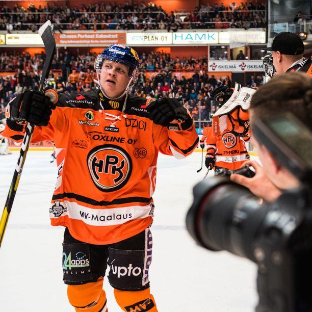 HPK:n Valtteri Puustisen 1-0-maali jäi voitto-osumaksi.