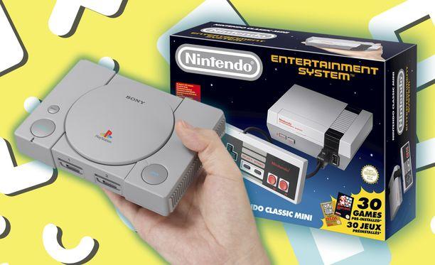 Eri valmistajat tuovat markkinoille retroversioita vanhoista konsoleistaan.