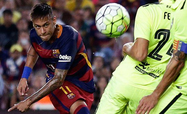 Neymar on Barcelonan ehdottomia tähtipelaajia.