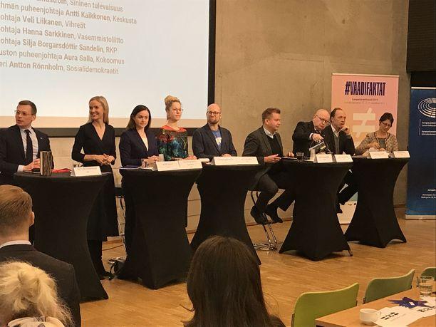 Eurooppalainen Suomi, SOSTE:n ja Uusi Suomi järjestivät 21.3. EU-vaalipaneelin Helsingissä.