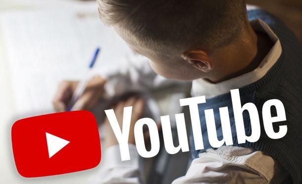 Youtube on poistanut videoita, joissa mainostetaan läksyjentekopalvelua. Kuvituskuva.