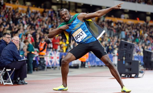 Usain Bolt tuuletteli Lontoossa kuuden viikon kilpailutauon jälkeen.