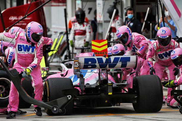 Racing Pointin auto on ollut tällä kaudella nopea.