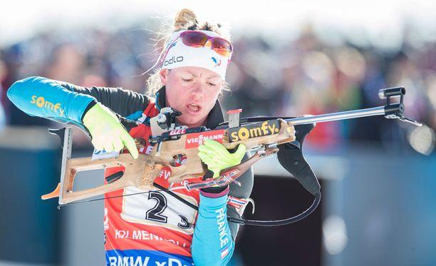 Ranskan Marie Dorin Habert lopettaa.