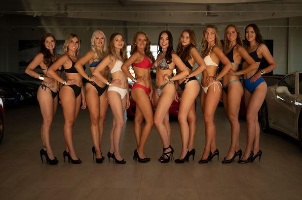 Kuvassa kaikki Miss Tampere -finalistit.