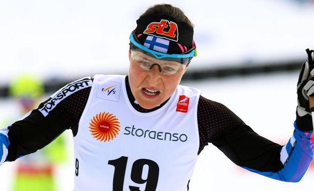 Aino-Kaisa Saarisen tavoite on menestyä Lahden MM-kisoissa.