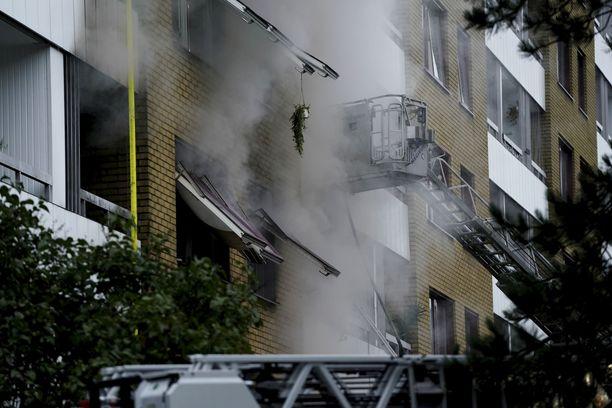 Asuinrakennuksessa Göteborgissa tapahtui räjähdys varhain tiistaiaamuna.