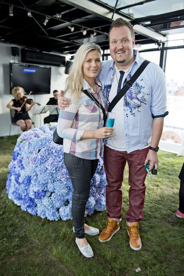 Ilona ja Sami Hedberg ovat kertoneet jatkavansa eron jälkeen ystävinä. Kuva vuodelta 2013.