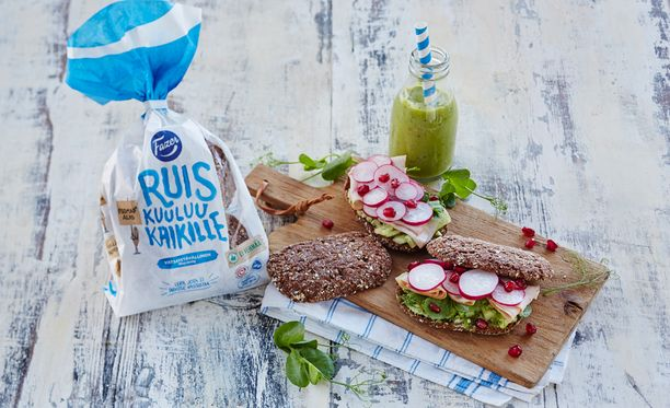 Ruisleivän lisäksi Fazer on tuonut kauppoihin kaksi muutakin vatsaystävällistä leipää: kauran ja gluteenittoman.