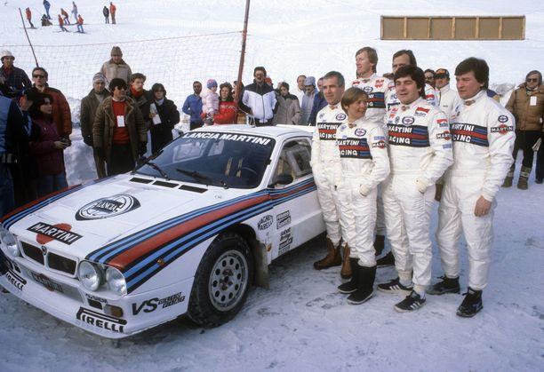 Lancia lähti tällaisella joukkueella vuoden 1983 Monte Carlon ralliin.
