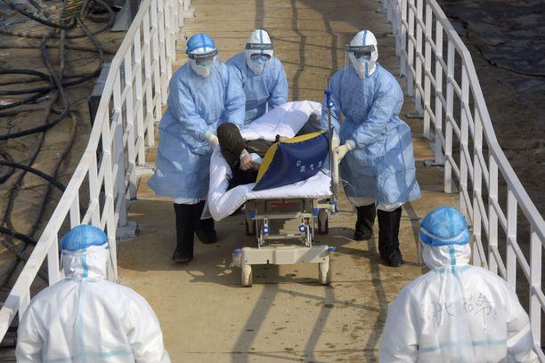 Kuvat Kiinasta ovat aiheuttaneet huolta. Kuva Wuhanista, jossa koronavirustartuntoja on ollut eniten.