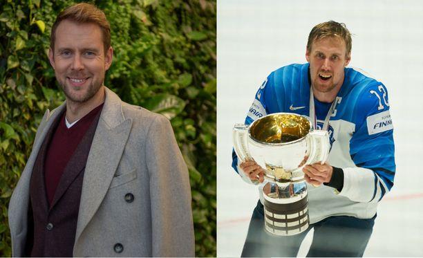 Vasemmalla oopperalaulaja Waltteri Torikka, oikealla jääkiekon maailmanmestari Marko Anttila (Mörkö-Marko).