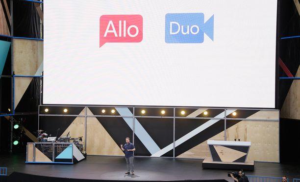 Google julkisti uudet viestintäsovelluksensa Allon ja Duon I/O-tapahtumassaan.