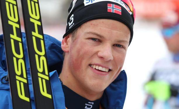 21-vuotias Johannes Høsflot Klæbo on Norjan uusi hiihtotähti.