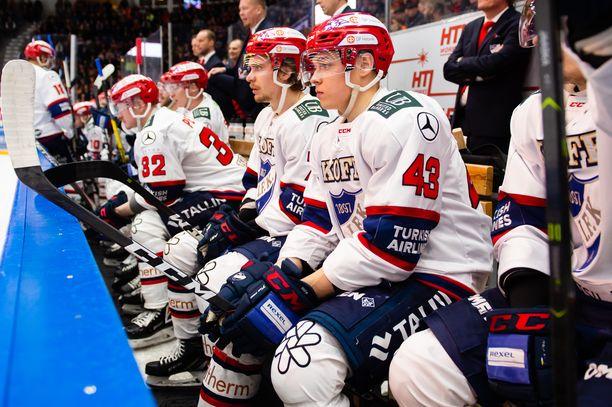 HIFK:n vaihtopenkillä on tällä kaudella nähty 43 eri pelaajaa.