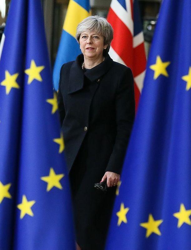 Pääministeri Theresa May vääntää parhaillaan eron ehdoista EU:n kanssa.