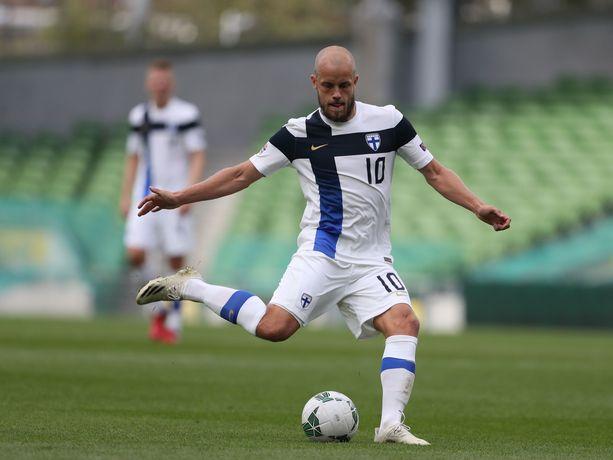 Teemu Pukki palannee Suomen avauskokoonpanoon Bulgaria-ottelussa.