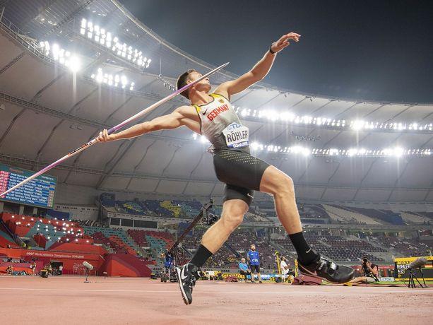 Thomas Röhler ei ollut parhaimmillaan Dohan MM-kisoissa viime vuonna.