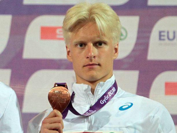Topias Laine saavutti viime kesänä alle 18-vuotiaiden EM-kisoissa keihään pronssia.