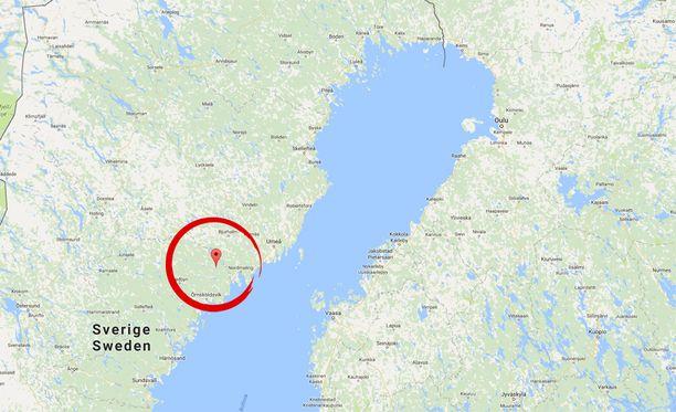 Räjähdys tapahtui Stor-Hattsjön järvellä lähellä Örnsköldsvikiä.