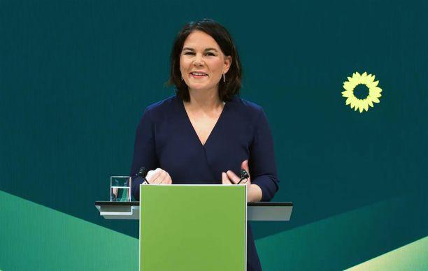 Vihreiden kansleriehdokas Annalena Baerbock saattaa nousta Angela Merkelin seuraajaksi.