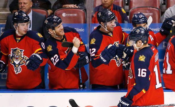 Aleksander Barkovilla ja muulla Panthersin joukkueella kulki Columbusta vastaan.