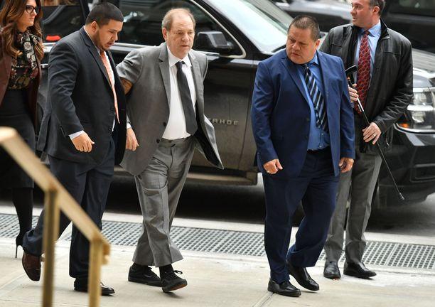 Harvey Weinstein saapui oikeuden kuultavaksi keskiviikkona.