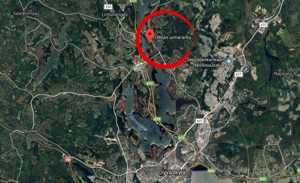 Onnettomuus tapahtui perjantaina Ollilan uimarannalla Jyväskylässä.