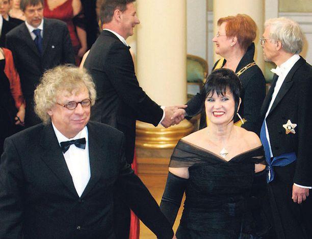 Tommy Tabermann Linnassa viime vuonna vaimonsa Tuija Wuori-Tabermannin kanssa.