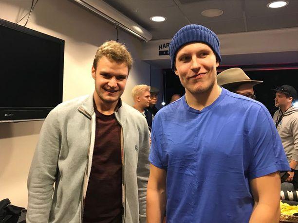 Aleksander Barkov ja Patrik Laine pääsivät tiistaina viettämään aikaa yhdessä.
