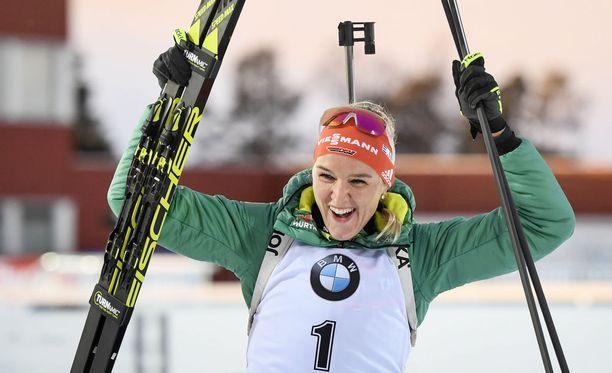 Denise Herrmann otti sunnuntaina toisen perättäisen voittonsa ampumahiihdon maailmancupissa.