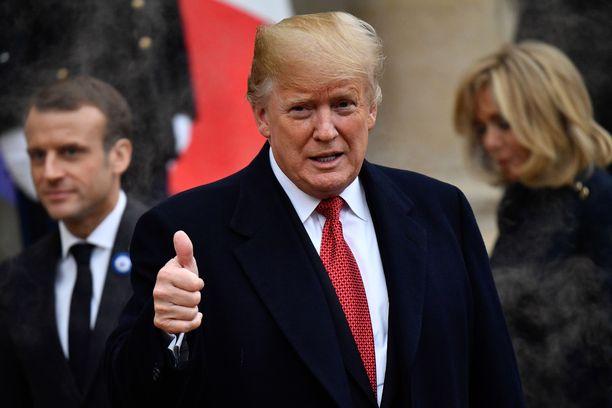 Trumpin vierailu Ranskan Belleaun metsän taistelupaikalle peruuntui lauantaina sateisen sään vuoksi.