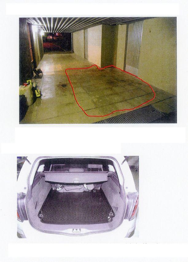 Poliisi löysi porttikongista uhrin verta, vaikka mies oli yrittänyt pestä jälkensä.
