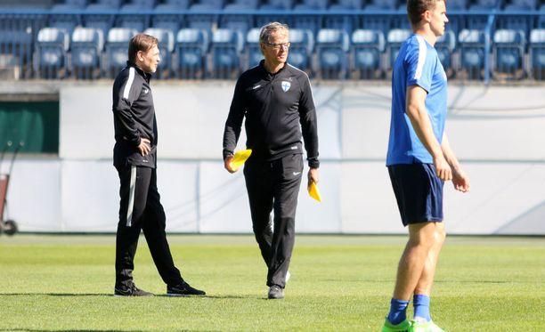 Suomi valmistautui Liechtenstein-otteluun päävalmentaja Markku Kanervan johdolla.