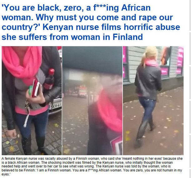 Video suomalaisnaisen purkauksesta kerää runsaasti keskustelua myös Daily Mailin verkkosivuilla.