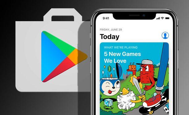 App Storeen käytetään enemmän rahaa kuin Google Play -kauppaan. Kuvituskuva.