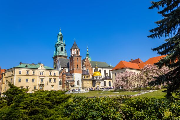 Wavelin linna on Krakovan tärkeimpiä nähtävyyksiä.