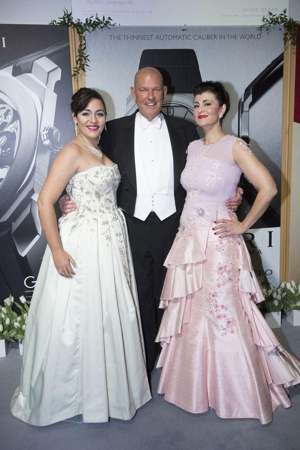 Ané Pretorius, Patrick Lagus ja Angelika Klas.