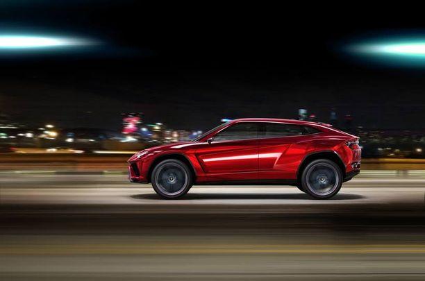 Lamborghini Urus -konseptiauto piirsi näkyviin uuden katumaasturin ilmeen vuonna 2102.