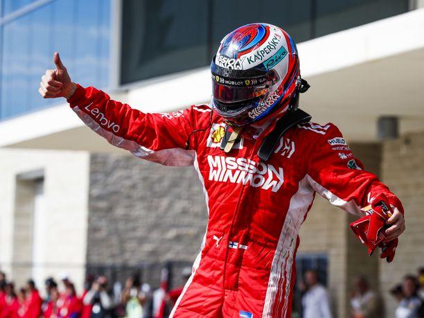 Kimi Räikkönen pääsi tuulettamaan viime sunnuntaina Austinissa uransa 21. GP-voittoa.