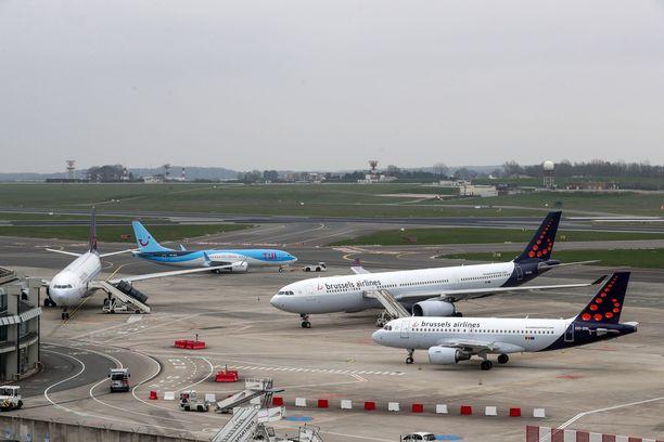 Näky Brysselin Zaventem-lentokentältä 20. maaliskuuta.