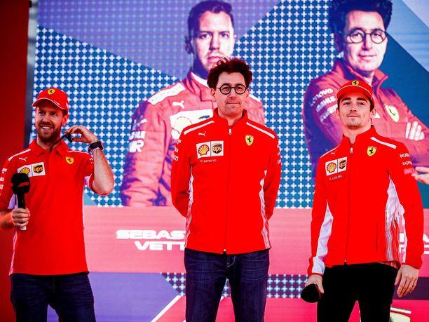 Sebastian Vettelillä, Mattia Binottolla ja Charles Leclercillä on kaudella 2019 vain yksi tavoite: Ferrarin palauttaminen mestaruuskantaan.