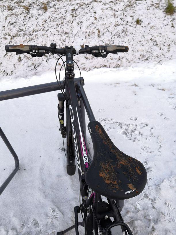 Oululaisen pyörä oli karmeassa kunnossa.