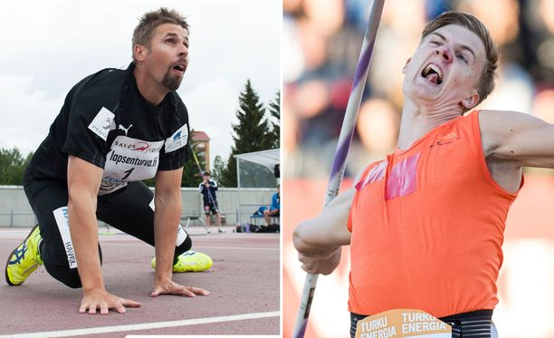 Antti Ruuskanen ja Oliver Helander karsivat keihäänheitossa.