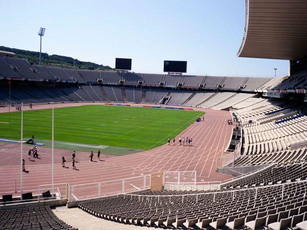 Ultrajuoksukisa pidettiin tällä Barcelonan olympiastadionilla.